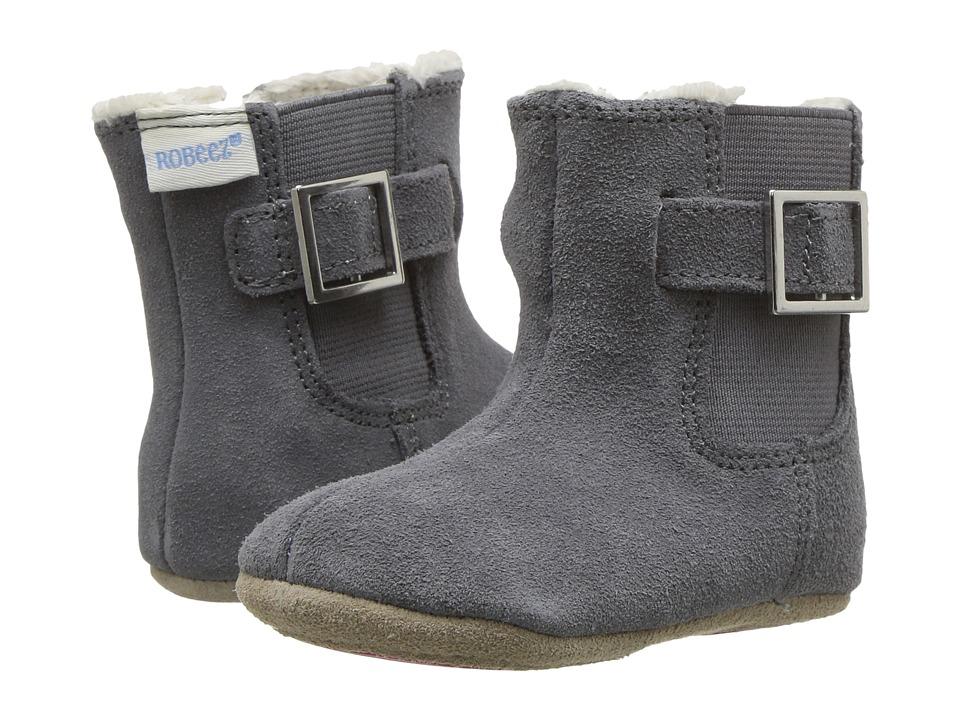 ROBEEZ Grey Gwen Boot Mini Shoez (Infant/Toddler) (Grey) ...