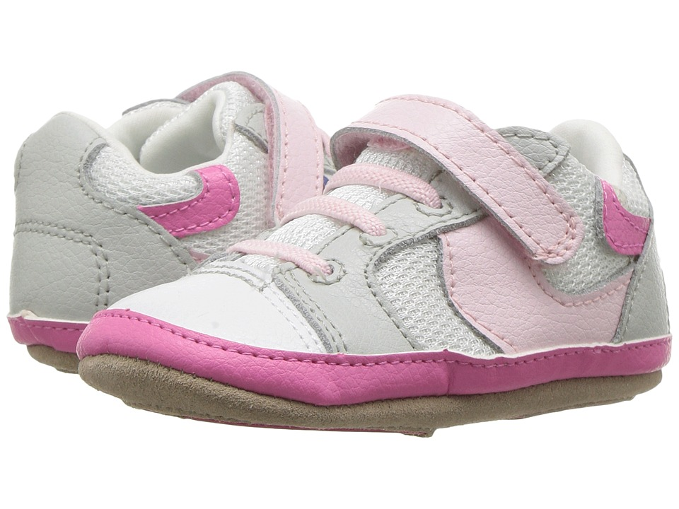 Robeez Tori Tenny Mini Shoez (Infant/Toddler) (White/Pink) Girl's Shoes