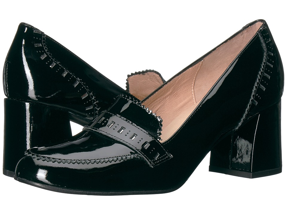 French Sole Zeus (Black Patent/Underlay) High Heels