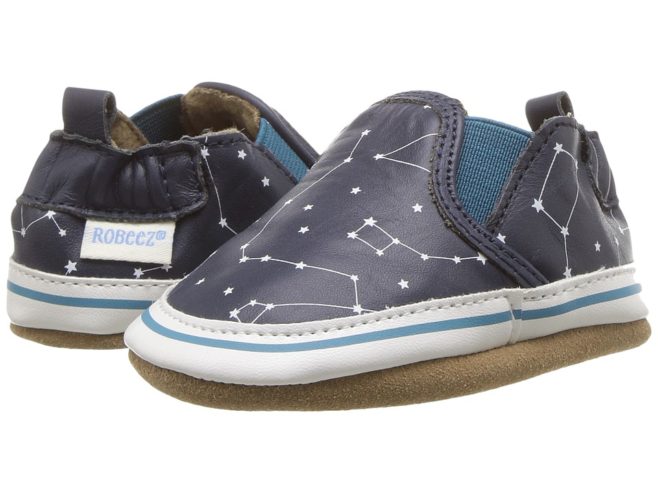 Robeez Liam Galaxy Soft Sole (Infant/Toddler) (Navy) Boy's Shoes