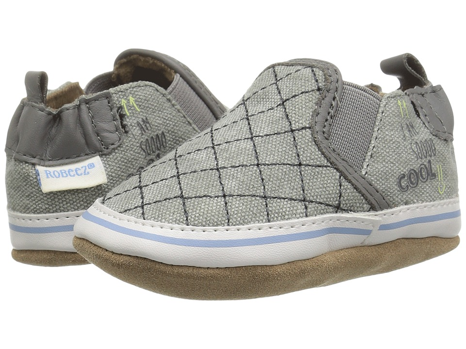 Robeez Liam I'm So Cool Soft Sole (Infant/Toddler) (Light Grey) Boy's Shoes