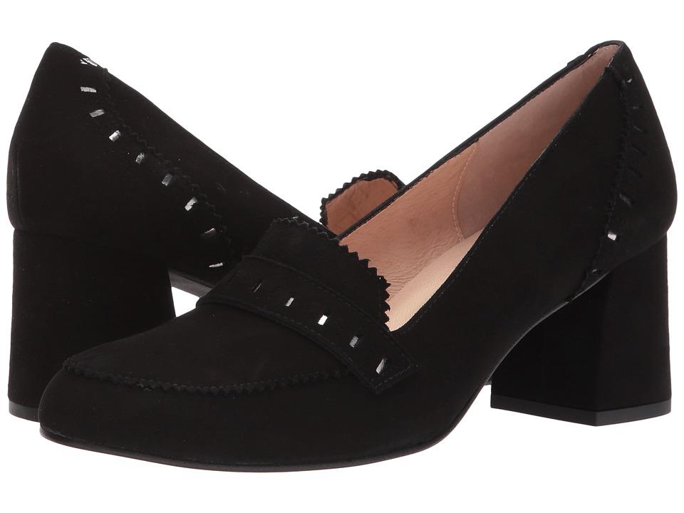 French Sole Zeus (Black Suede/Underlay) High Heels