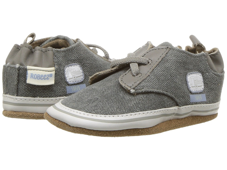 Robeez Cool Casual RV Patch Soft Sole (Infant/Toddler) (Dark Grey) Boy's Shoes