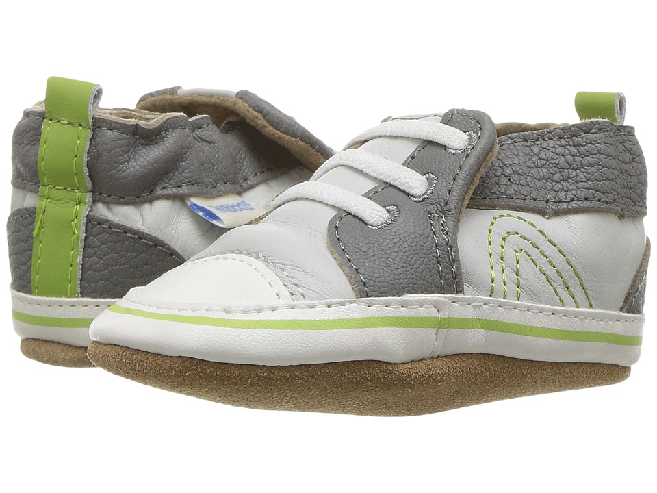 Robeez Trendy Trainer Soft Sole (Infant/Toddler) (Grey) Boy's Shoes