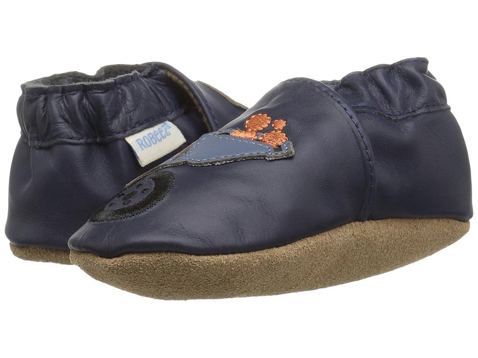 Robeez Big Dig Soft Sole (Infant/Toddler) (Navy) Boy's Shoes