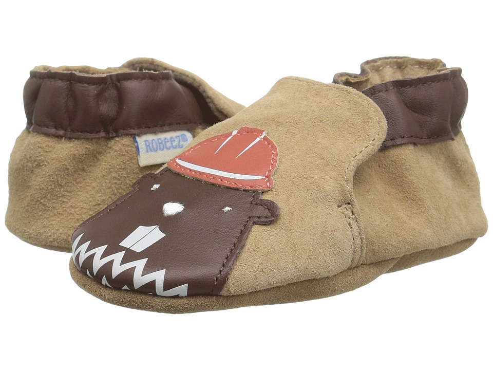 Robeez Beaver Soft Sole (Infant/Toddler) (Brown) Boy's Shoes