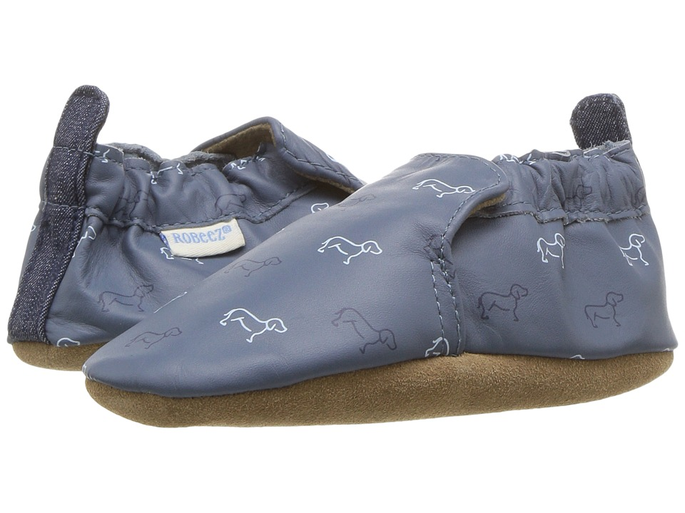 Robeez Puppy Love Soft Sole (Infant/Toddler) (China Blue) Boy's Shoes