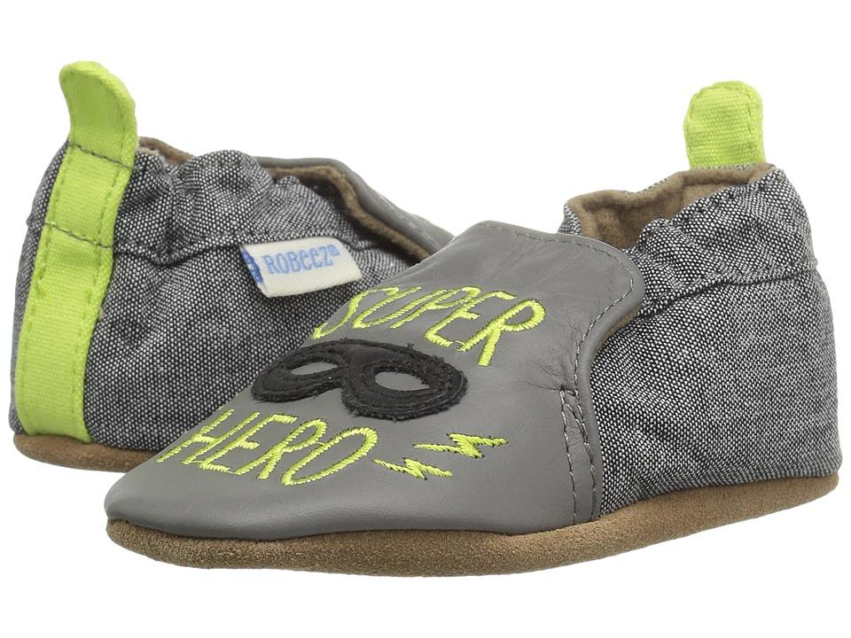 Robeez Super Hero Soft Sole (Infant/Toddler) (Black) Boy's Shoes