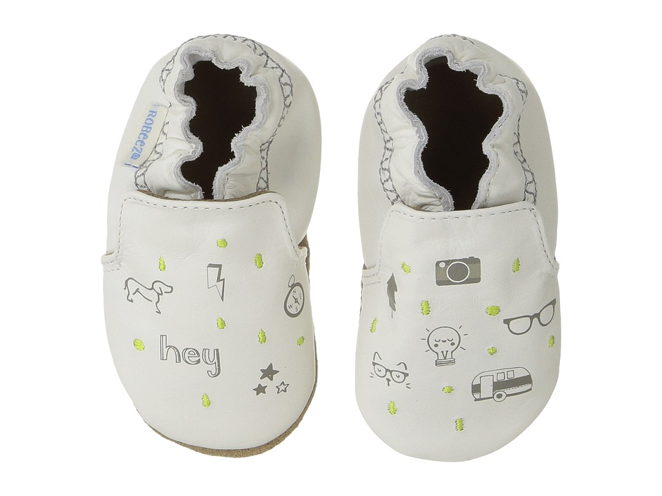 Robeez Random Icons Soft Sole (Infant/Toddler) (Cream) Boy's Shoes