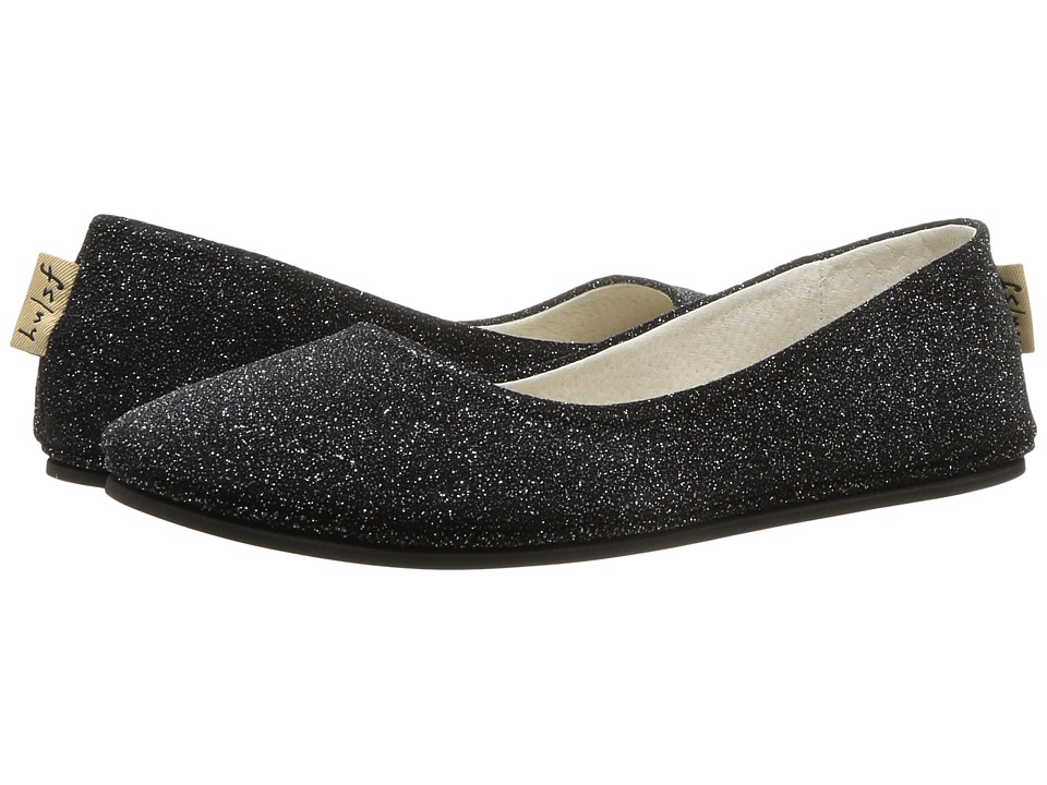 French Sole Sloop Flat (Argento Sparkle Suede) Flats