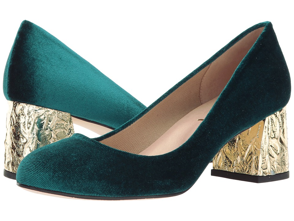 French Sole - Trance-X (Emerald Velvet) High Heels