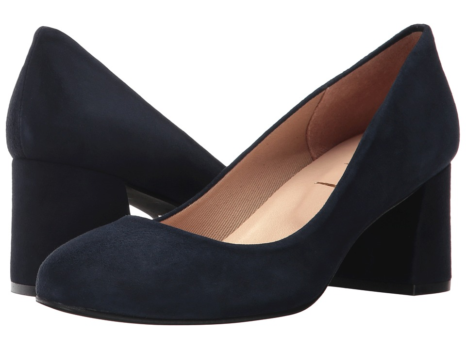 French Sole - Trance (Navy Suede) Womens Flat Shoes