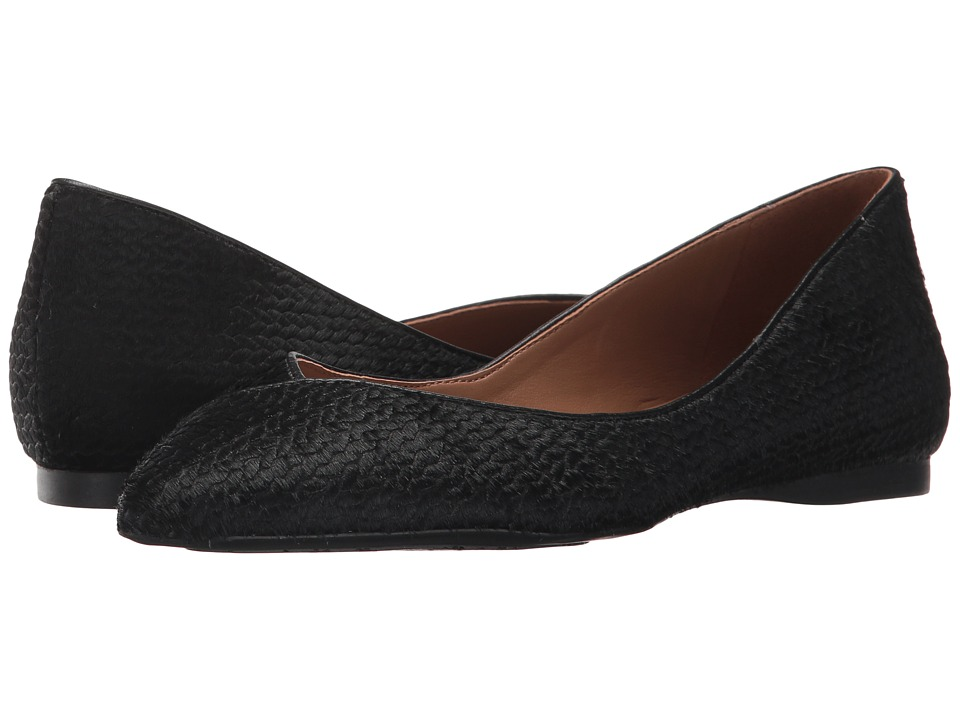 French Sole Peppy (Black Braided Haircalf) Women