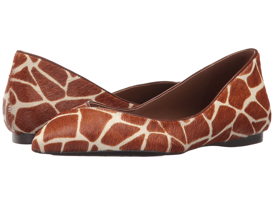 French Sole Peppy (Cognac Giraffe Haircalf) Women