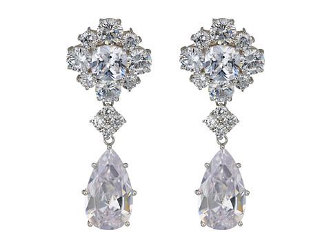 Nina Araina Earrings - Rhodium/White CZ