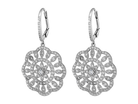 Nina Arum Earrings - Rhodium/White CZ