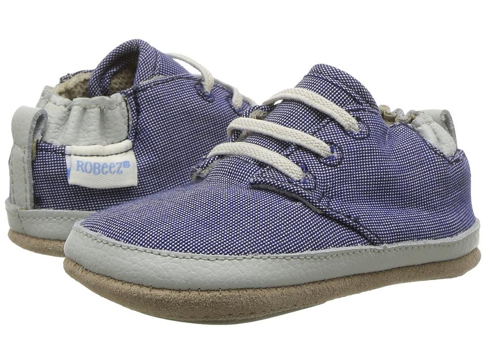 Robeez Steven Low Top Mini Shoez (Infant/Toddler) (Denim) Boy's Shoes