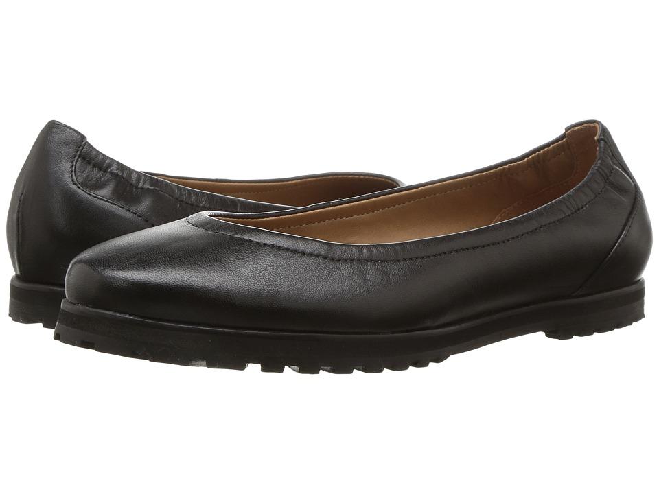 French Sole Yeah (Black Kid) Women's Flat Shoes