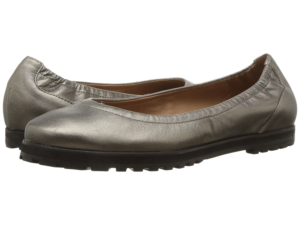French Sole - Yeah (Pewter Kid) Womens Flat Shoes