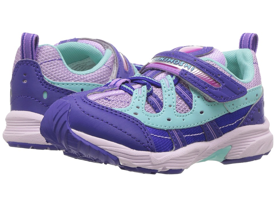 Tsukihoshi Kids - Speed (Toddler/Little Kid) (Purple/Mint) Girls Shoes