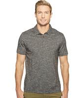 Perry Ellis - Solid Slub Stripe Three-Button Polo Shirt