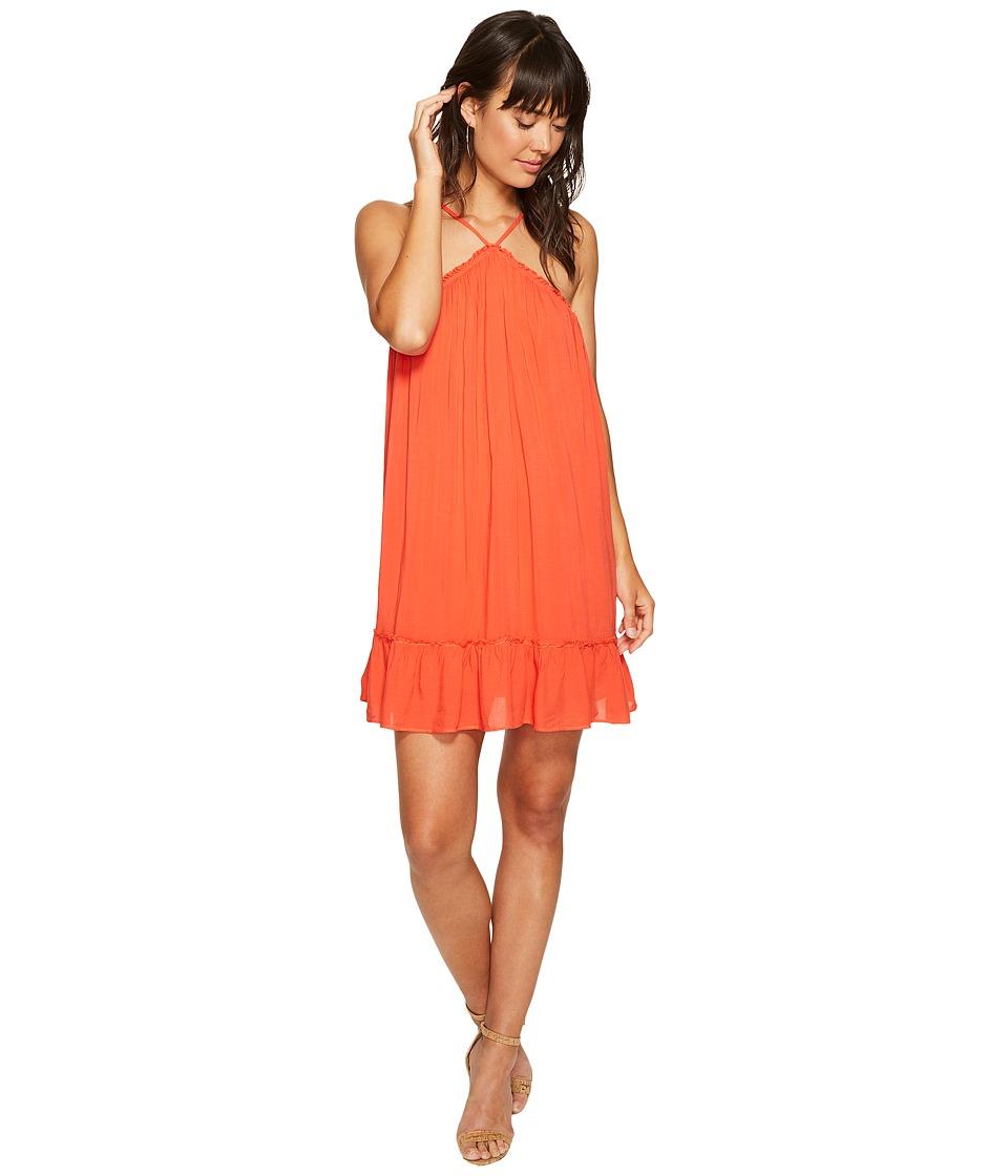 Young Fabulous & Broke Lissa Dress (Hot Orange/Solid) Women