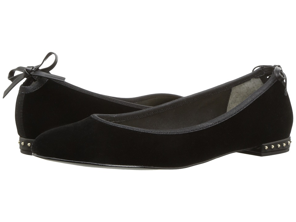 Vintage Style Shoes, Vintage Inspired Shoes Adrianna Papell - Brianne Black Velvet Womens Shoes $119.00 AT vintagedancer.com