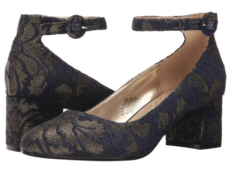 Bandolino Odear (Navy/Gold Renaissance Upholstery) Women