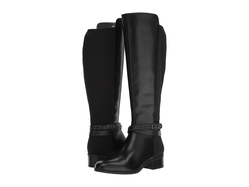 Bandolino Bryices Wide Calf (Black Santiago Leather/Lycra) Women