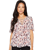 B Collection by Bobeau - Tate Tie Front Blouse