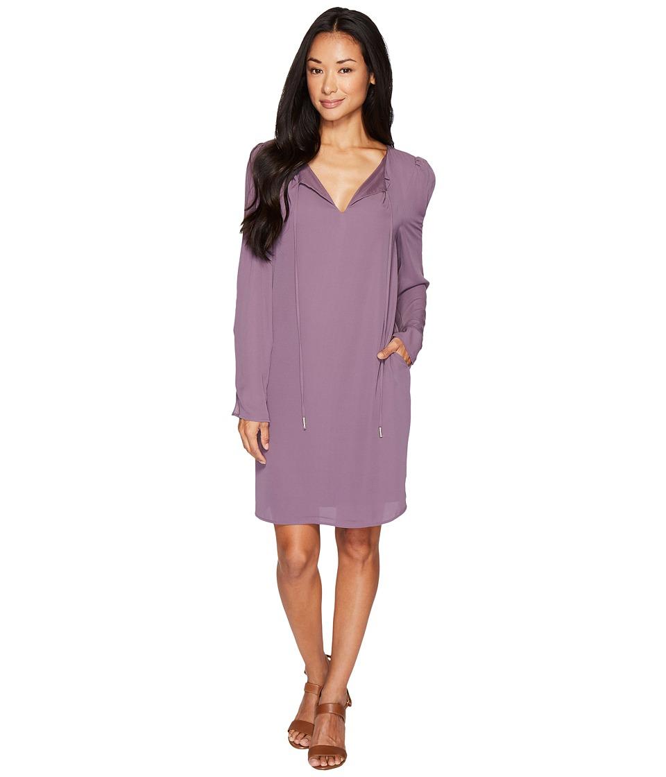 B Collection by Bobeau Amada Long Sleeve Woven Dress (Flint) Women