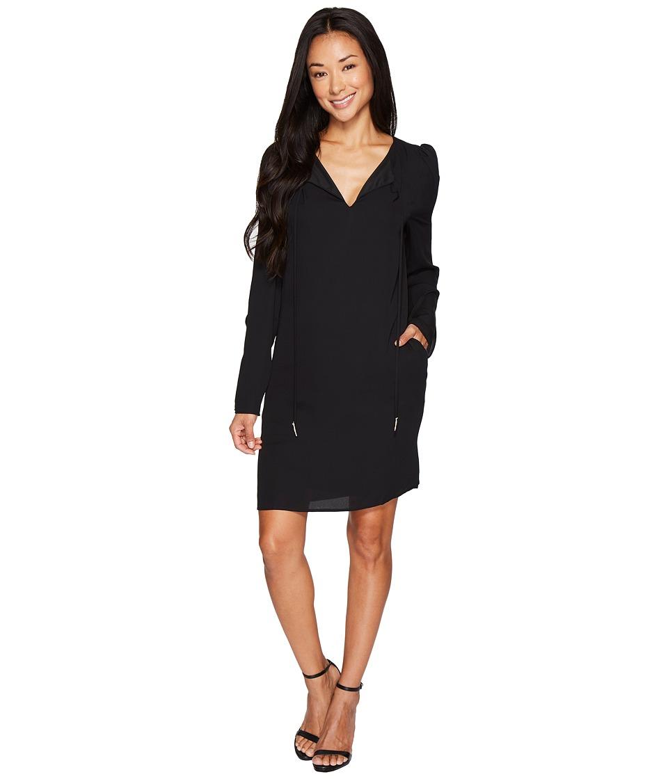 B Collection by Bobeau Amada Long Sleeve Woven Dress (Black) Women