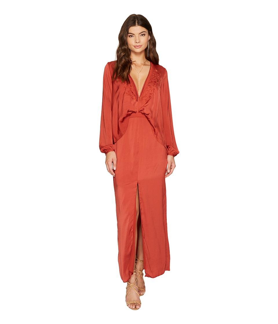 The Jetset Diaries Siren Midi Dress (Saffron) Women