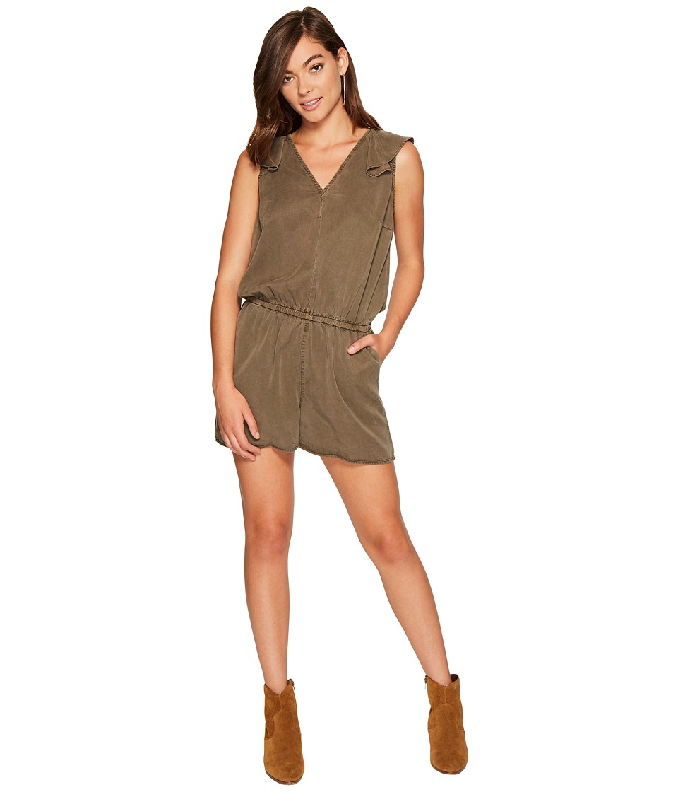 1.STATE - Sleeveless V-Neck Ruffle Back Romper