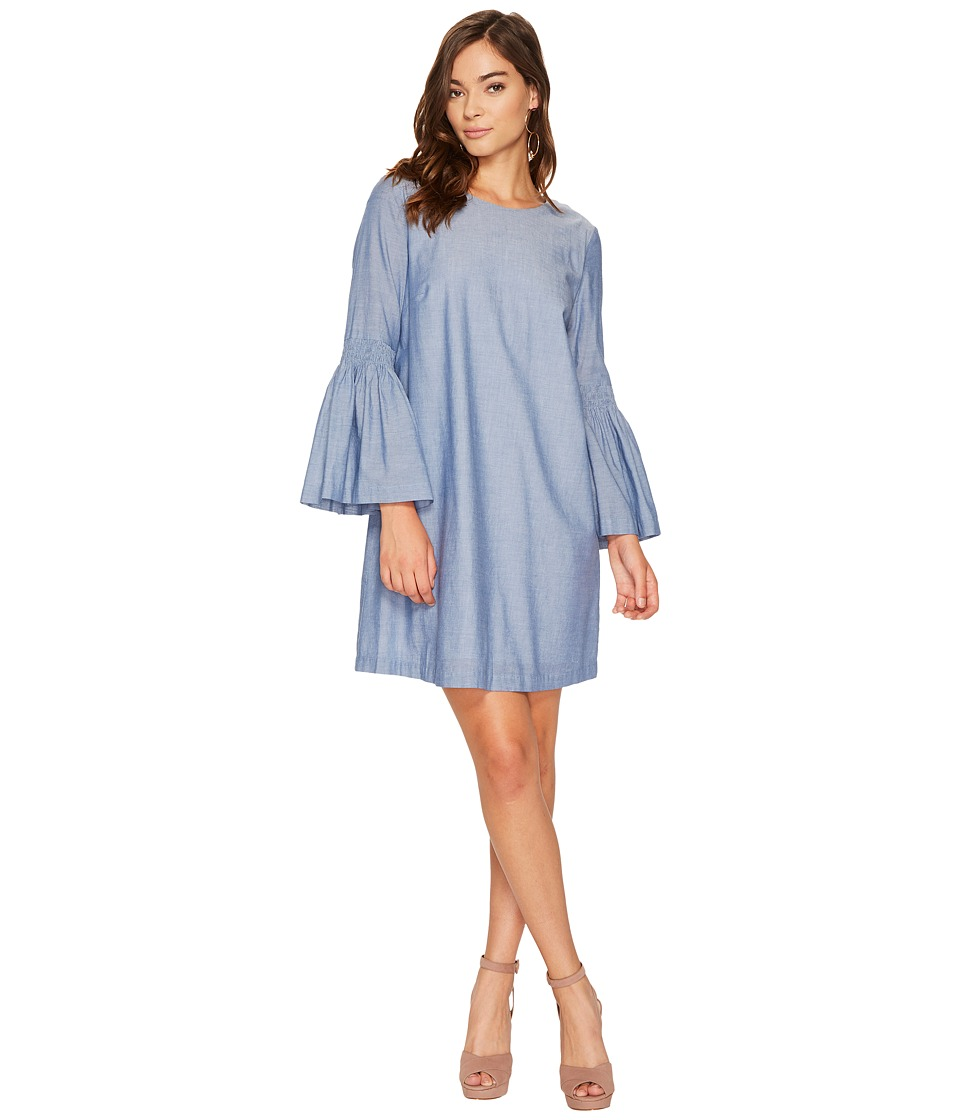 1.STATE - Crew Neck Bell Sleeve Shift Dress