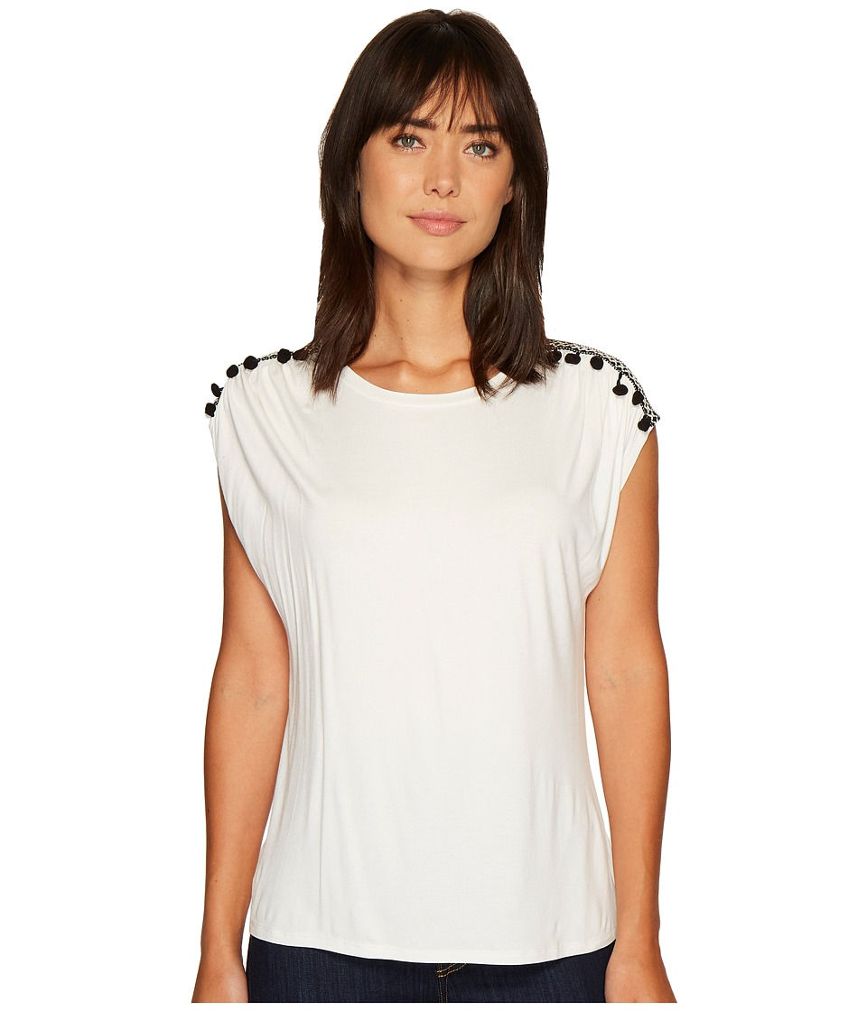 B Collection by Bobeau - Norah T-Shirt with Trim Detail