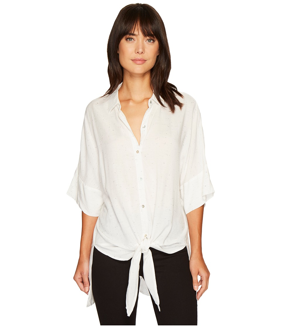B Collection by Bobeau - Lazslo Oversized Shirt (White Pepper) Womens Blouse