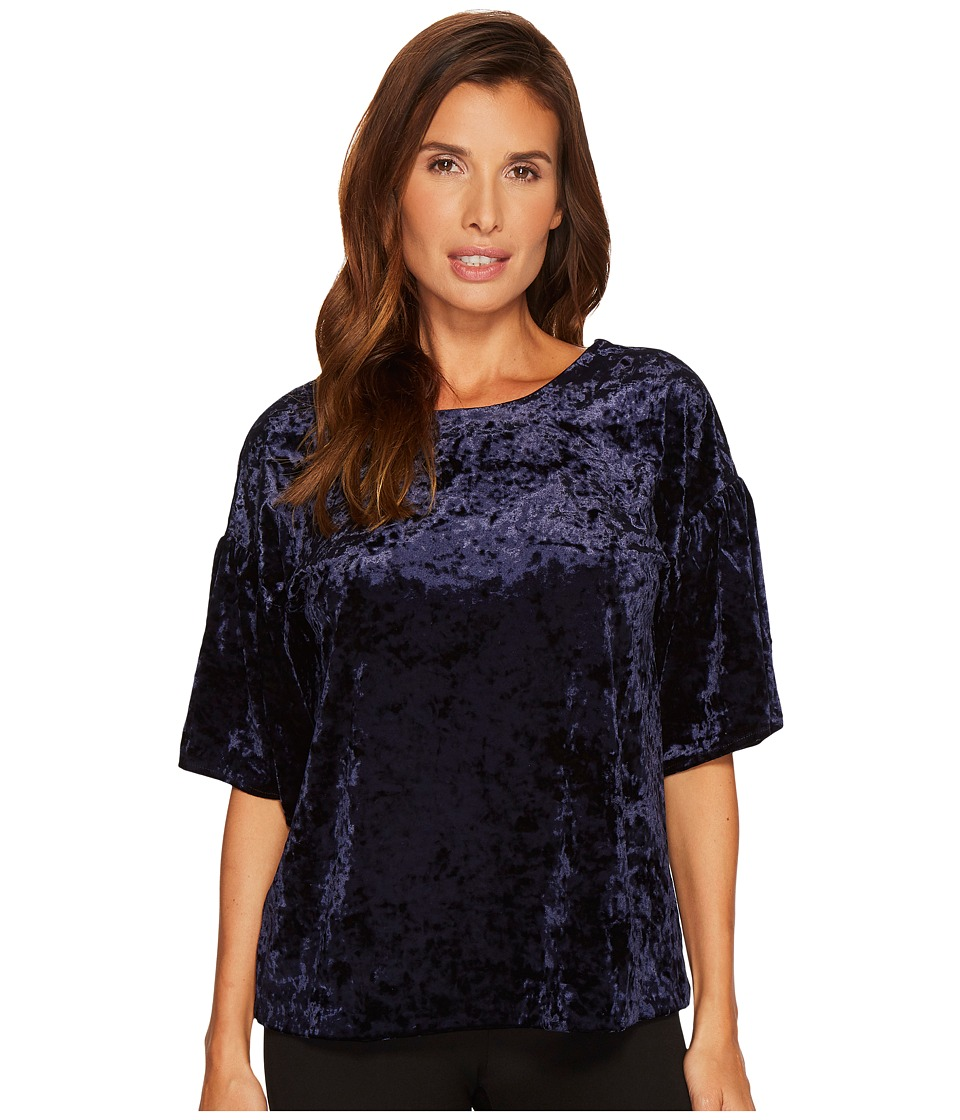 B Collection by Bobeau - Emma Flutter Sleeve Top (Midnight Navy) Womens Short Sleeve Pullover