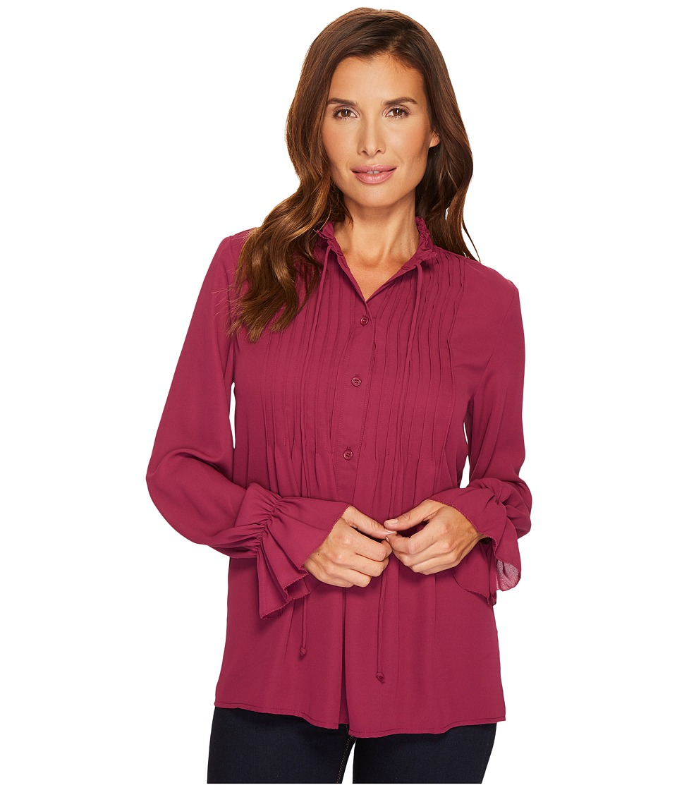 B Collection by Bobeau - Ruby Romantic Blouse (Richberry) Womens Blouse
