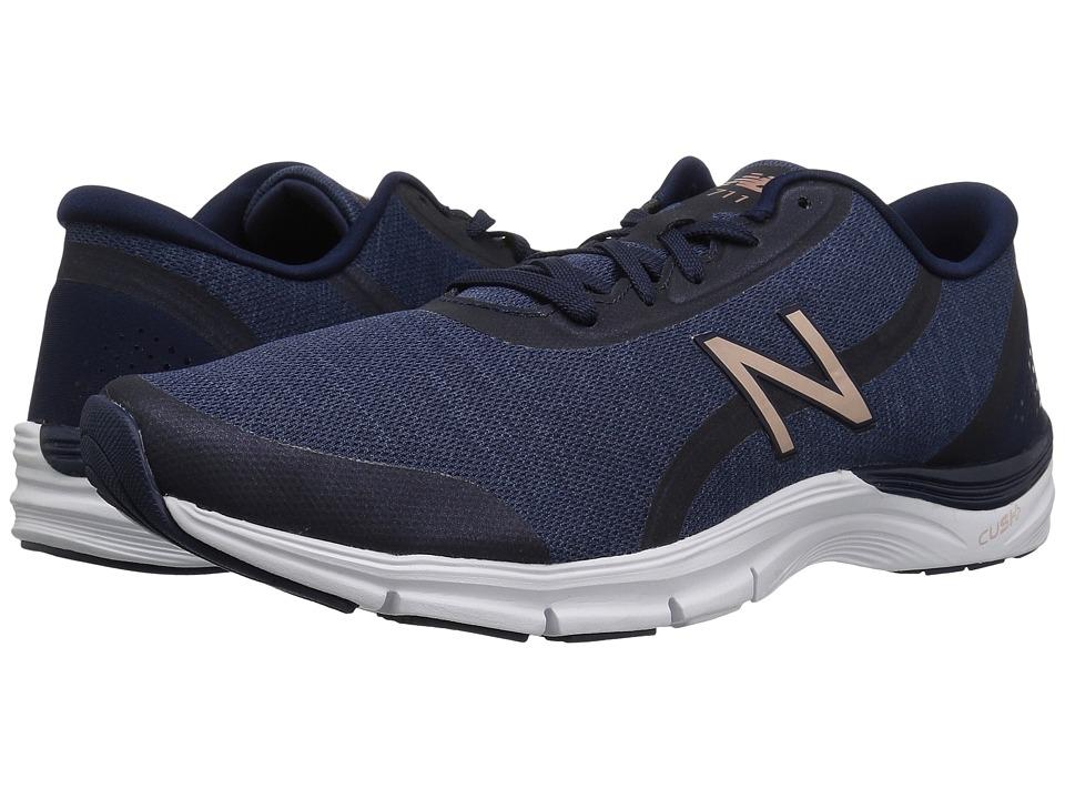 New Balance - WX711v3 (Pigment/Champagne Metallic) Womens Cross Training Shoes