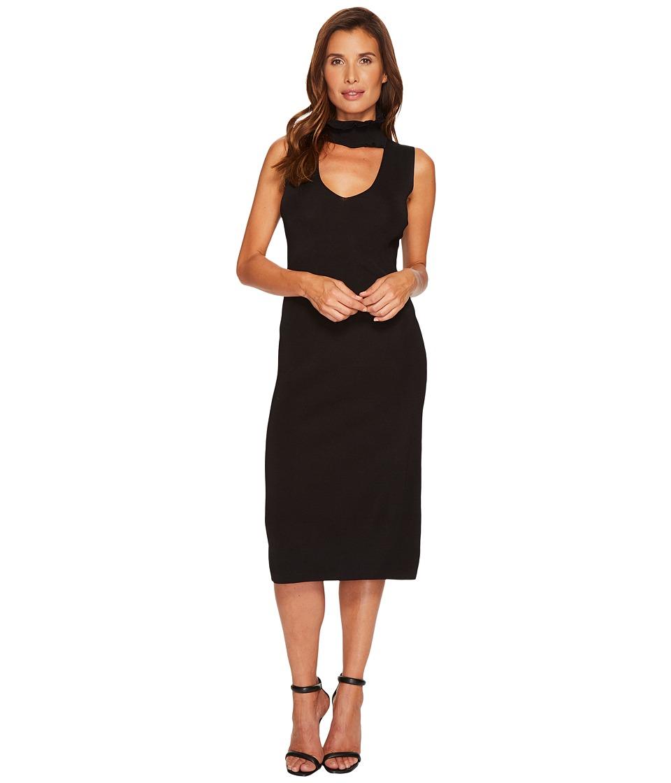 B Collection by Bobeau Raine V-Neck Sweater Dress (Black) Women
