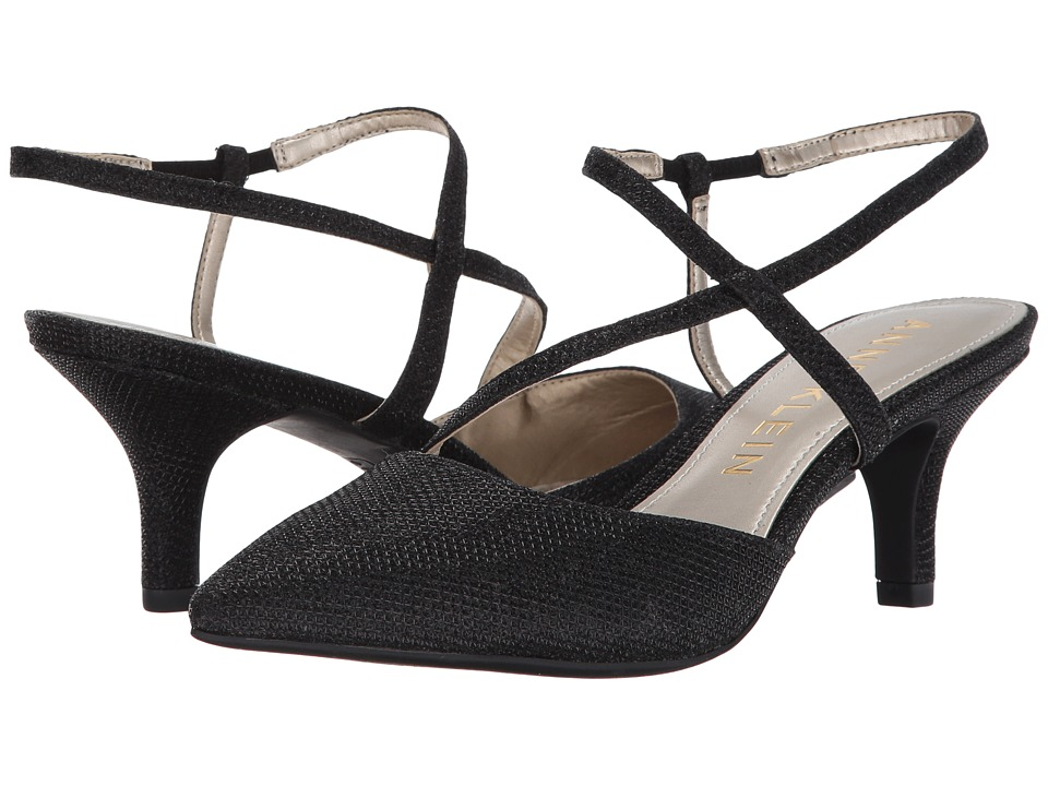 Anne Klein - Ferdie (Black Fabric) Womens Shoes