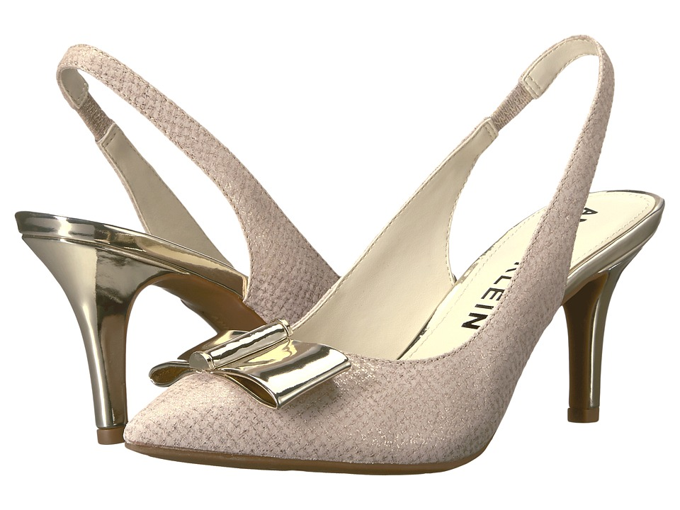 Anne Klein - Yannah (Light Natural/Gold Leather) Womens Shoes