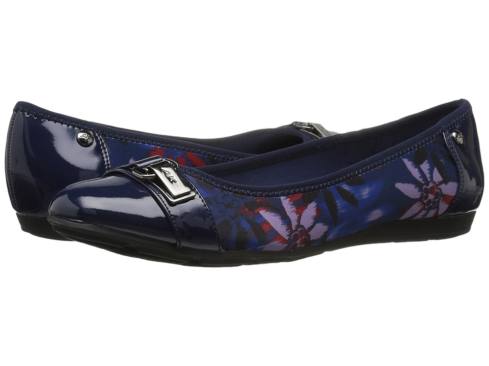 Anne Klein Able (Navy Combo Fabric) Slip-On Shoes