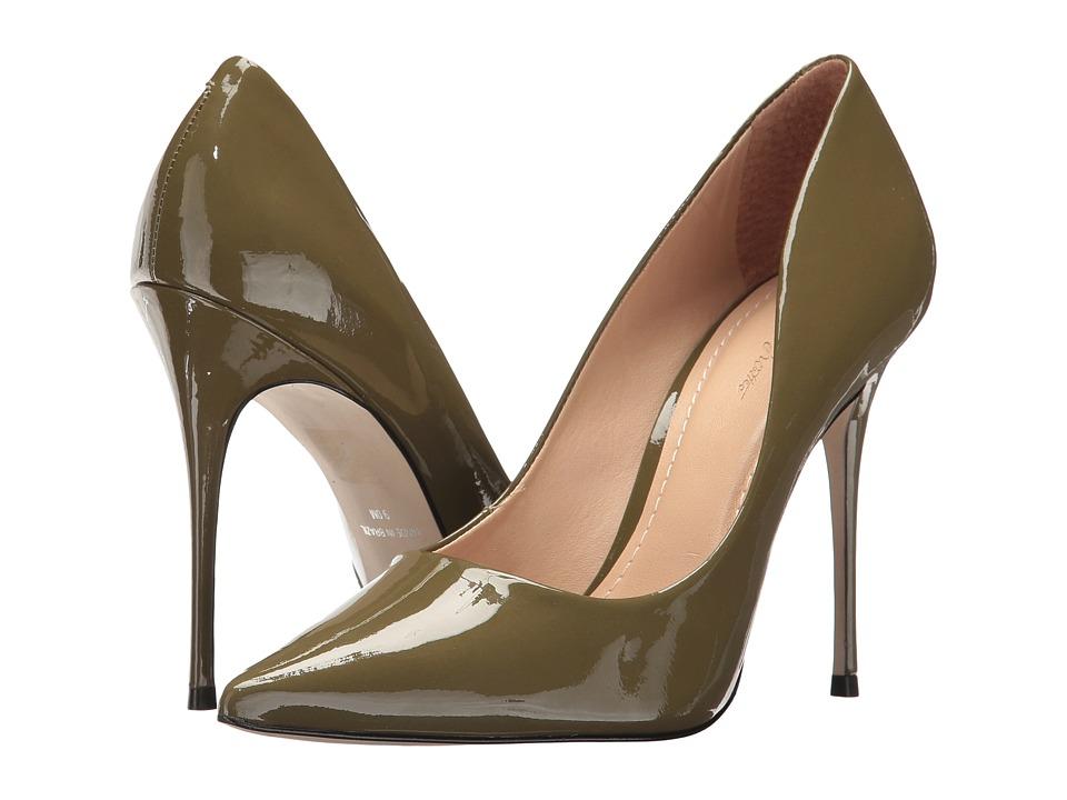 Massimo Matteo Pointy Toe Pump 17 (Military Patent) Women