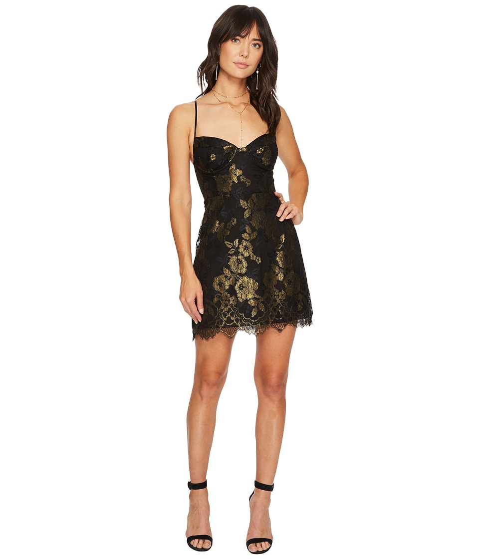 For Love and Lemons Bumble Busiter Dress (Black Gold) Women