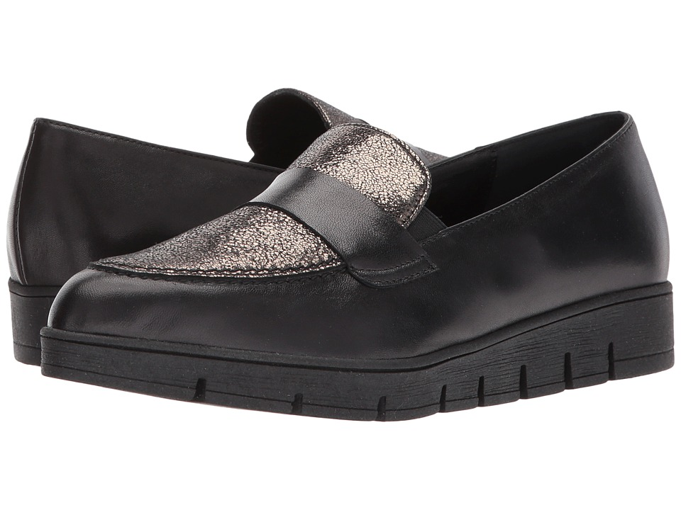 Cordani - Amalia (Black Leather/Pewter) Womens Shoes