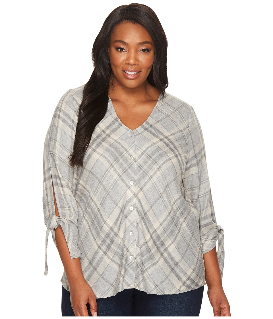 B Collection by Bobeau - Plus Size Long Sleeve Top