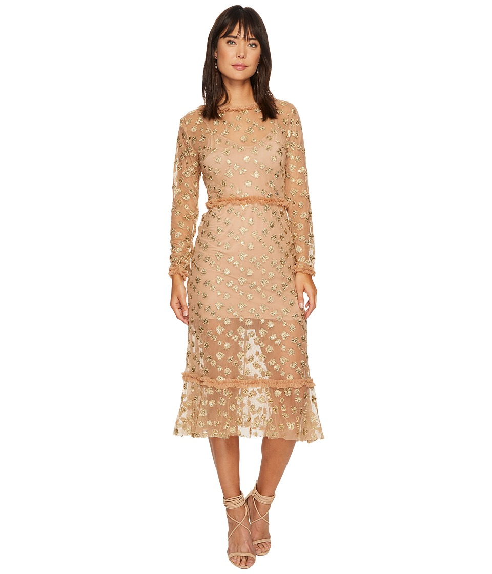 For Love and Lemons For Love and Lemons - Golden Garden Tulle Midi Dress