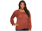 B Collection by Bobeau Curvy - Plus Size Ruffle Sleeve Sweater